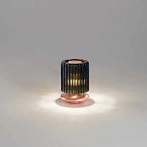 Vistosi - Retrò - Tread TL LED - Table lamp with glass lampshade