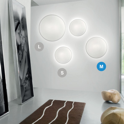 Vistosi - Round ceiling - Aurora AP PL 40 LED - Modern wall light or ceiling light - Crystal - LS-VI-PPAUROR0018FA3E - Warm white - 3000 K - Diffused