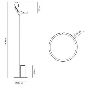 Axo Light - Orchid&Cut - Cut PT LED - Lampadaire design