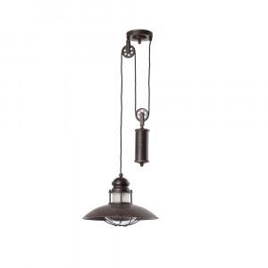 Faro - Indoor - Industrial - Winch SP 2L - Suspension avec une lumière et avec décorations