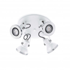 Faro - Indoor - Ring - Ring Pl 4L LED - Lampe de plafond avec 4 lumières LED