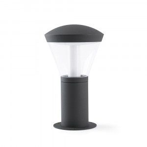 Faro - Outdoor - Datna - Shelby PT LED S - Borne de jardin LED taille petite - Gris -  - Blanc chaud - 3000 K - Diffuse
