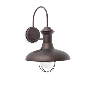 Faro - Outdoor - Estoril - Estoril AP L - Applique murale rustique grande taille - Rouille - LS-FR-71141
