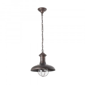 Faro - Outdoor - Estoril - Estoril SP L - Lampe suspension rustique pour grande terrasse - Rouille - LS-FR-71143