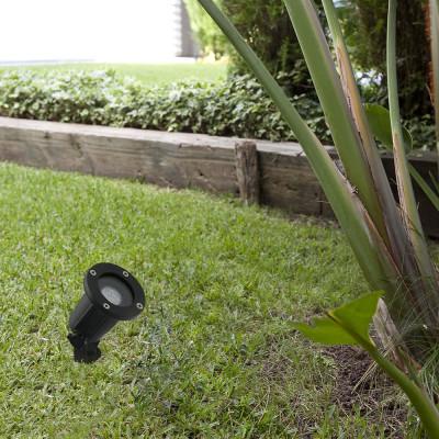 Faro - Outdoor - Garden - Tono TE - Spot de jardin réglable avec piquet - Noir - LS-FR-73150