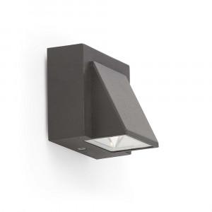 Faro - Outdoor - Klamp - Kamal AP LED - Applique murale à LED avec émission de lumière unique - Gris -  - Blanc chaud - 3000 K - 120°
