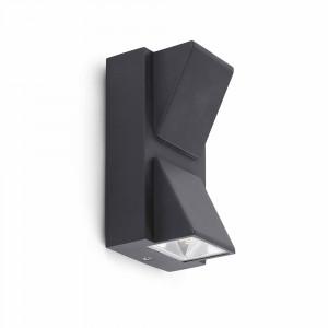 Faro - Outdoor - Klamp - Kamal AP LED BI - Applique à double émission LED - Gris -  - Blanc chaud - 3000 K - 120°