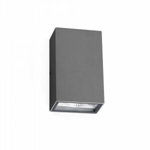 Faro - Outdoor - Klamp - Ling AP LED - Applique murale à double émission de lumière LED pour l'extérieur - Gris -  - Blanc naturel - 4000 K - 120°