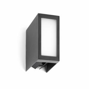 Faro - Outdoor - Klamp - Log AP LED - Lampe murale d'extérieurs à bi-émission - Anthracite -  - Blanc chaud - 3000 K - Diffuse