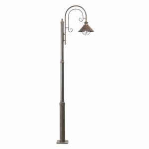 Faro - Outdoor - Nautica - Nautica 1L PT - Borne LED en style rustique d'extérieur avec une lumière - Rouille - LS-FR-71116