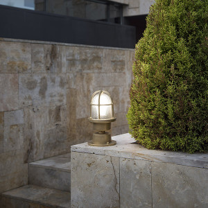Faro - Outdoor - Ottone - Mauren PL - Lampe de sol ou plafonnier en laiton d'extérieur