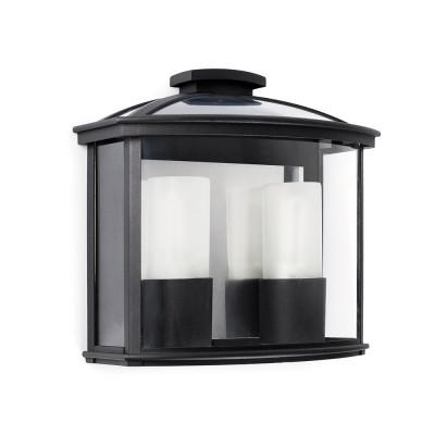 Faro - Outdoor - Paris - Ceres AP 2L - Applique de style français avec deux lumières - Noir - LS-FR-71608