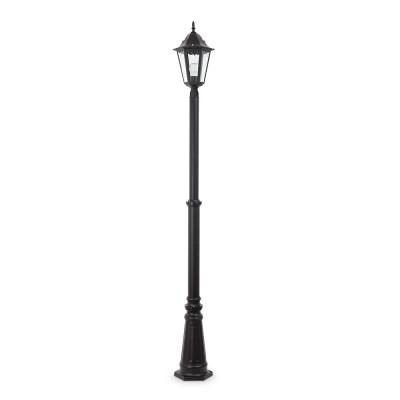 Faro - Outdoor - Paris - Paris PT 1L - Poteau d'extérieur avec une lumière en style classique - Noir - LS-FR-73436
