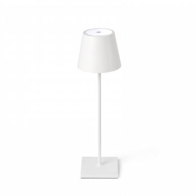 Faro - Outdoor - Portable - Toc TE LED - Lampe de table portable avec prise USB - Blanc -  - Blanc chaud - 3000 K - Diffuse