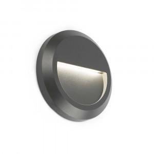 Faro - Outdoor - Sedna - Grant FA LED round - Spot de chemin LED encastrable rond pour l'extérieur - Gris -  - Blanc chaud - 3000 K - 120°