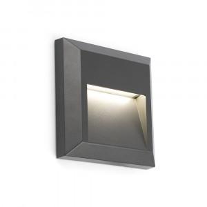 Faro - Outdoor - Sedna - Grant FA LED square - Spots encastrables carrés à LED pour l'extérieur - Gris -  - Blanc chaud - 3000 K - 120°