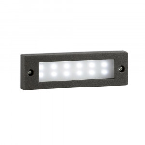 Faro - Outdoor - Sedna - Indi FA LED - Marqueur d'extérieur encastrable LED - Gris -  - Blanc froid - 5000 K - Diffuse