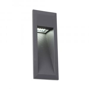 Faro - Outdoor - Sedna - Landai FA LED - Spot encastrable LED rectangulaire - Gris -  - Blanc naturel - 4000 K - 120°