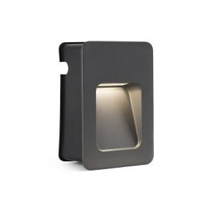 Faro - Outdoor - Sedna - Nase FA LED S - Spot à encastrer à LED taille petite - Gris -  - Blanc chaud - 3000 K - Diffuse