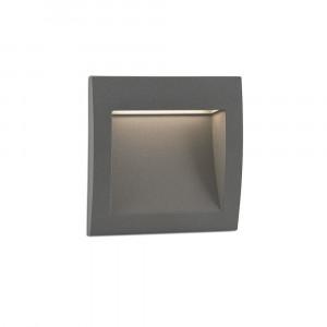 Faro - Outdoor - Sedna - Sedna 1 FA LED - Spot à encastrer LED carré petit - Gris -  - Blanc chaud - 3000 K - 70°