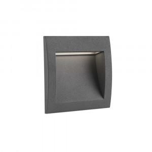 Faro - Outdoor - Sedna - Sedna 3 FA LED - Spot de chemin encastrable LED carré taille moyenne - Gris -  - Blanc chaud - 3000 K - 70°