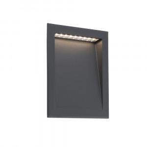 Faro - Outdoor - Sedna - Soun FA LED - Marqueur de chemin encastrable LED pour l'extérieur - Gris -  - Blanc chaud - 3000 K - 120°