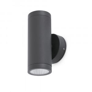 Faro - Outdoor - Steps - Cobo AP LED - Applique LED bi-émission - Gris -  - Blanc naturel - 4000 K - Diffuse
