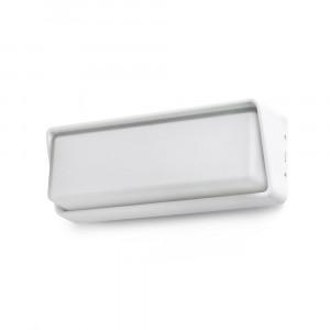 Faro - Outdoor - Steps - Half AP LED - Applique murale design LED pour jardin - Blanc -  - Blanc chaud - 3000 K - Diffuse