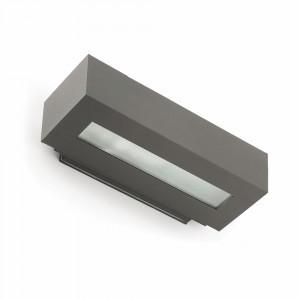 Faro - Outdoor - Steps - West-2 AP - Applique à double émission de lumière en aluminium pour terrasses - Gris - LS-FR-70899