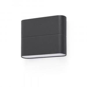 Faro - Outdoor - Sun - Aday AP LED S - Applique avec double émission de lumière LED de petite taille - Gris -  - Blanc chaud - 3000 K - Diffuse