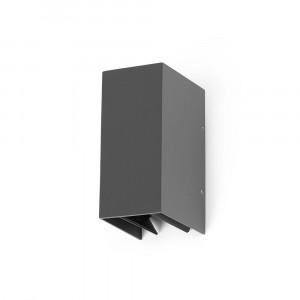 Faro - Outdoor - Sun - Blind AP LED - Applique LED à double émission de lumière orientable - Gris -  - Blanc chaud - 3000 K - Diffuse