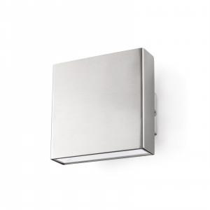 Faro - Outdoor - Sun - Kaula AP LED - Applique murale d'extérieur LED en acier inoxydable - Nickel mat -  - Blanc chaud - 3000 K - Diffuse
