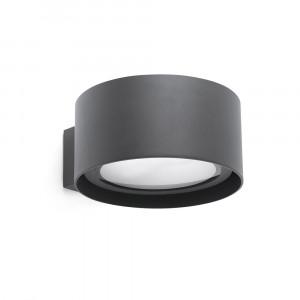 Faro - Outdoor - Sun - Quart AP LED - Lampe murale LED à double émission de lumière en aluminium - Gris -  - Blanc chaud - 3000 K - Diffuse