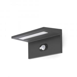 Faro - Outdoor - Sun - Teba AP LED - Applique solaire LED avec détecteur de mouvement - Gris -  - Blanc naturel - 4000 K - Diffuse