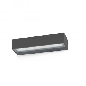 Faro - Outdoor - Sun - Toluca AP LED - Applique avec double émission de lumière LED pour l'extérieur - Gris -  - Blanc chaud - 3000 K - Diffuse