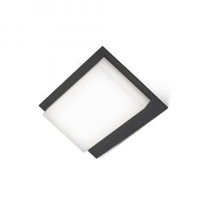 Faro - Outdoor - Sun - Vertice AP LED - Applique murale LED de jardin - Gris -  - Blanc chaud - 3000 K - Diffuse