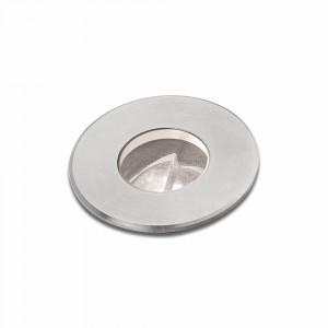 Faro - Outdoor - Tecno - Curtis FA LED - Spot décoratif encastrable à LED - Nickel mat -  - Blanc chaud - 3000 K - 45°