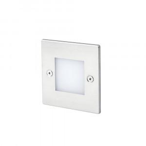 Faro - Outdoor - Tecno - Frol FA LED - Spot LED encastrable d'extérieure - Nickel mat -  - Blanc chaud - 3000 K - Diffuse
