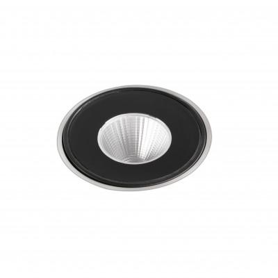 Faro - Outdoor - Tecno - Frum FA LED - Spot encastrable à LED pour le jardin - Noir -  - Blanc chaud - 3000 K - Diffuse