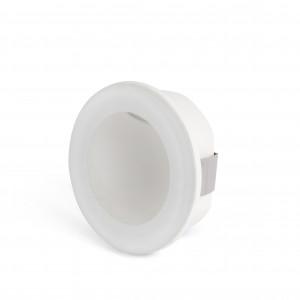 Faro - Outdoor - Tecno - Galo FA round LED - Spot de chemin d'extérieur ronde - Blanc opaque -  - Blanc chaud - 3000 K - Diffuse