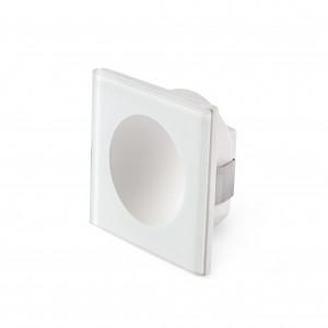 Faro - Outdoor - Tecno - Galo FA square LED - Spot de chemin LED - Blanc opaque -  - Blanc chaud - 3000 K - Diffuse