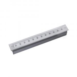 Faro - Outdoor - Tecno - Grava FA LED - Lampe de chemin à encastrer LED pour extérieur - Nickel mat -  - Blanc chaud - 3000 K - 30°