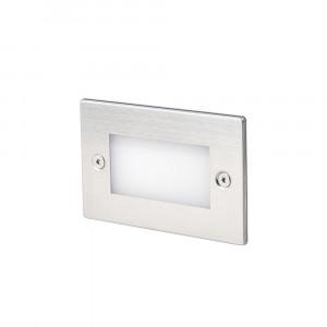 Faro - Outdoor - Tecno - Gron FA LED - Spot LED à encastrer d'extérieur - Nickel mat -  - Blanc chaud - 3000 K - Diffuse