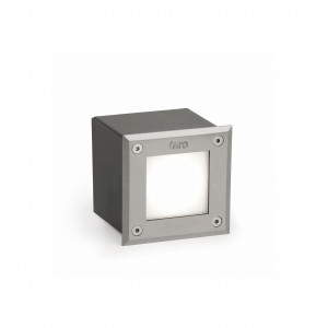 Faro - Outdoor - Tecno - Led-18 FA LED square - Spot carrossable LED d'extérieur - Nickel mat -  - Blanc froid - 5000 K - Diffuse