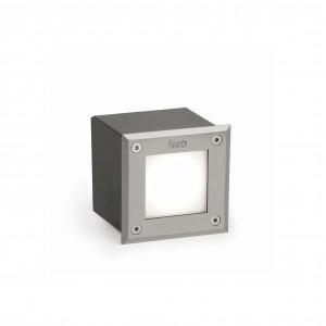 Faro - Outdoor - Tecno - Led-18 FA LED square - Spot carrossable LED d'extérieur - Nickel mat - LS-FR-71499N - Blanc chaud - 3000 K - Diffuse