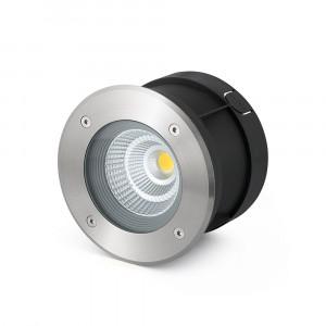 Faro - Outdoor - Tecno - Suria-12 FA LED - Spot encastrable carrossable LED pour le jardin - Nickel mat -  - Blanc chaud - 3000 K - 30°