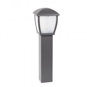 Faro - Outdoor - Wilma - Wilma PT M - Borne lumineuse avec lanterne d'extérieur - Gris - LS-FR-74999
