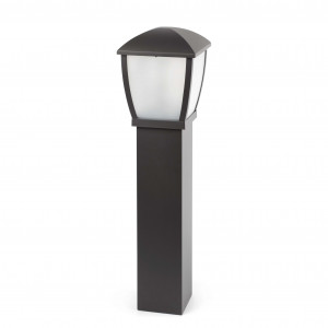 Faro - Outdoor - Wilma - Wilma PT S - Borne lumineuse avec lanterne d'extérieur - Gris - LS-FR-75003