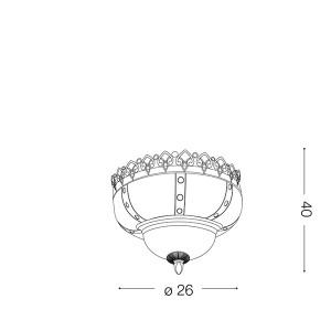 Ideal Lux - Etnico - Harem PL3 - Plafonnier
