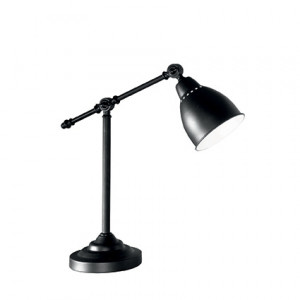 Ideal Lux - Industrial - Newton TL1 - Lampe de table avec diffuseur en métal